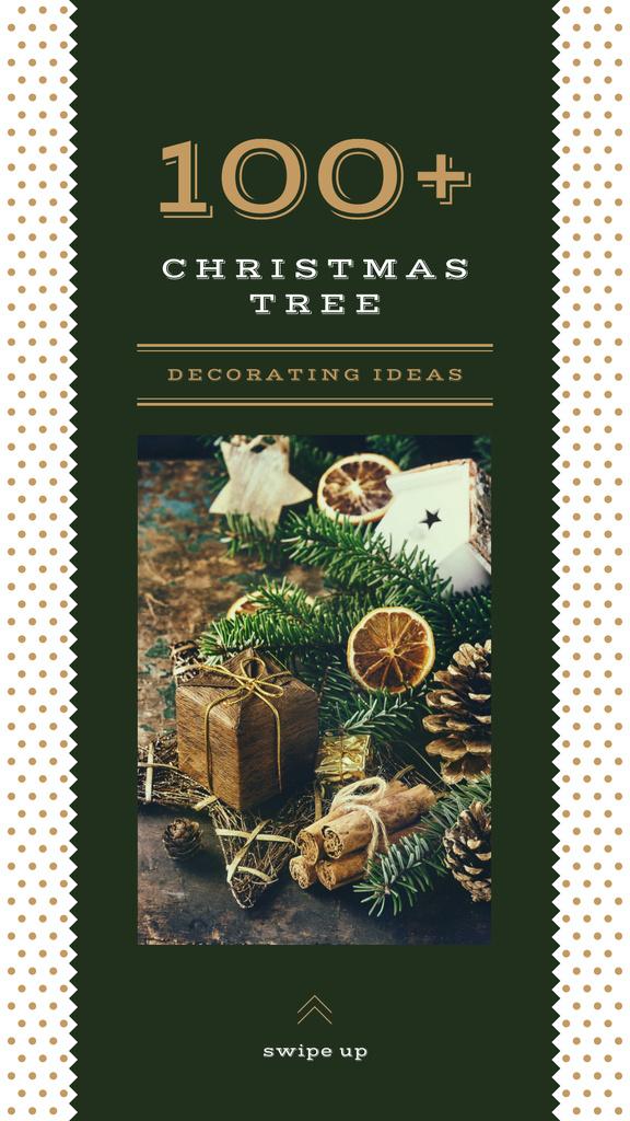 Christmas gift box and decorations — ein Design erstellen