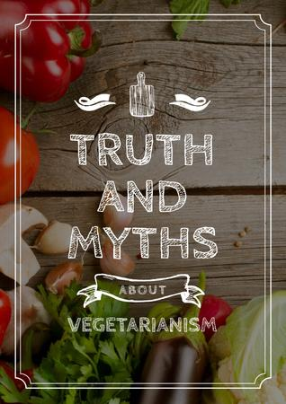 Plantilla de diseño de Truth and myths about Vegetarianism Poster