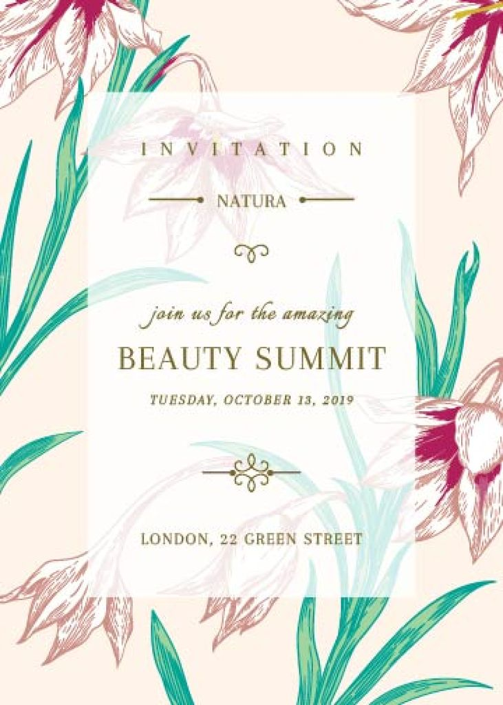 Beauty summit invitation — Maak een ontwerp