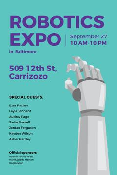 Robotics expo in Baltimore poster
