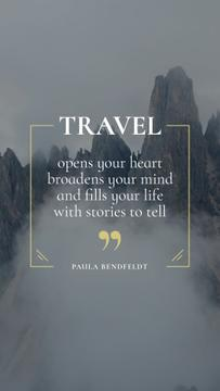 Travel Inspiration with Scenic foggy Mountains