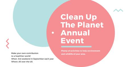 Clean up the Planet Annual event Facebook AD – шаблон для дизайну