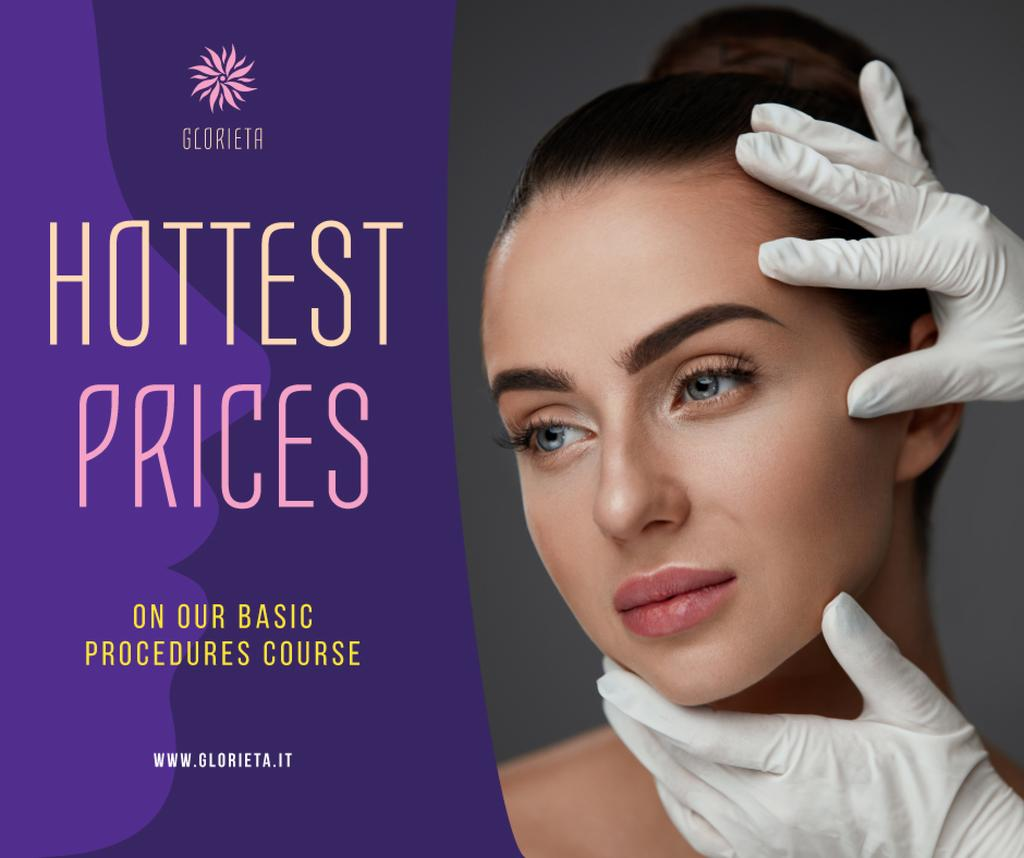 Cosmetology Procedures Promotion Woman at Beauty Clinic | Facebook Post Template — Create a Design