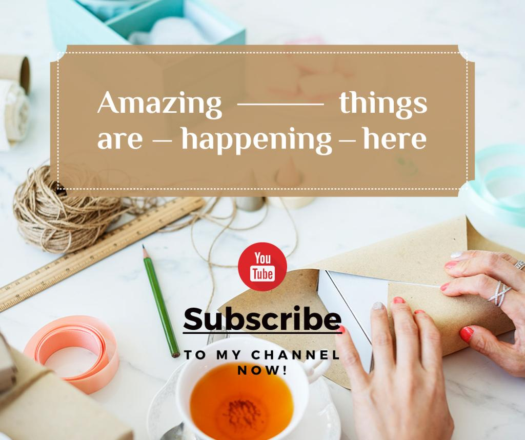 handmade crafts youtube channel — Create a Design