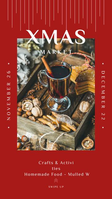 Ontwerpsjabloon van Instagram Story van Red mulled Christmas wine