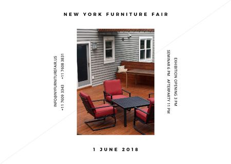 New York Furniture Fair announcement Postcard Modelo de Design