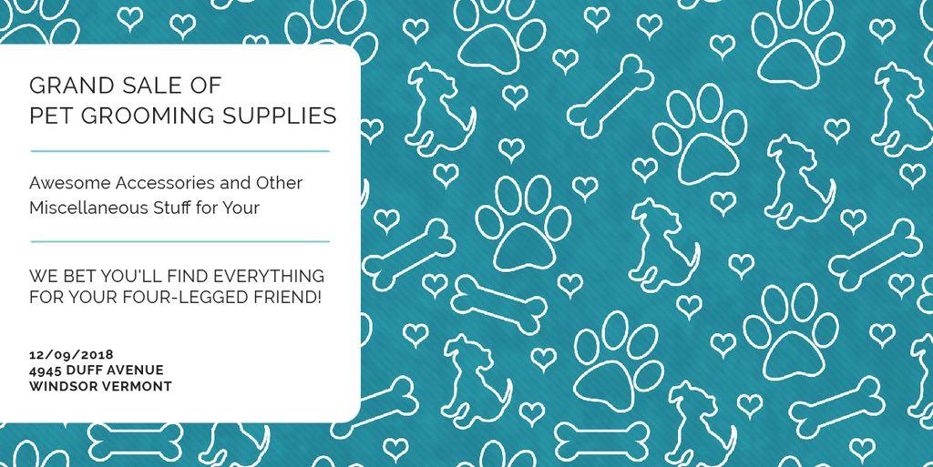 Grand sale of pet grooming supplies — ein Design erstellen