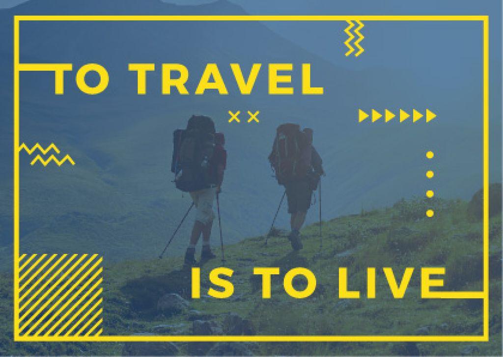 Hiking travel motivational poster — Створити дизайн
