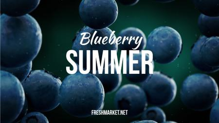 Plantilla de diseño de Raw Blueberries Falling down Full HD video