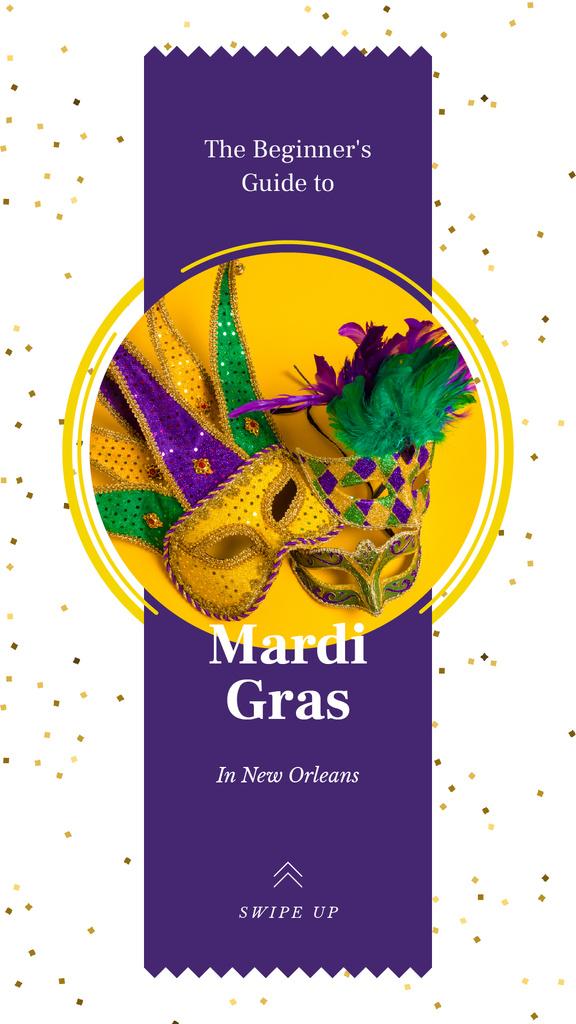 Mardi Gras carnival masks — Créer un visuel