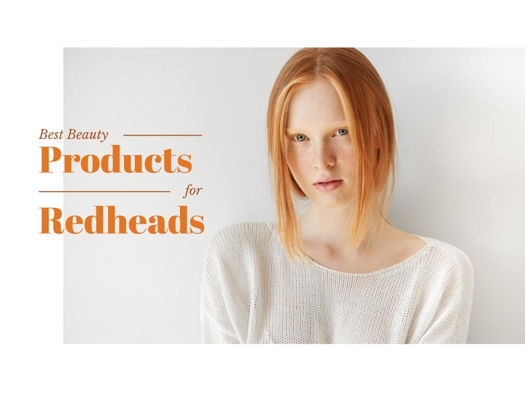 Best beauty products for redheads — Modelo de projeto