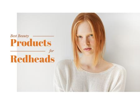 Designvorlage Best beauty products for redheads Offer für Presentation