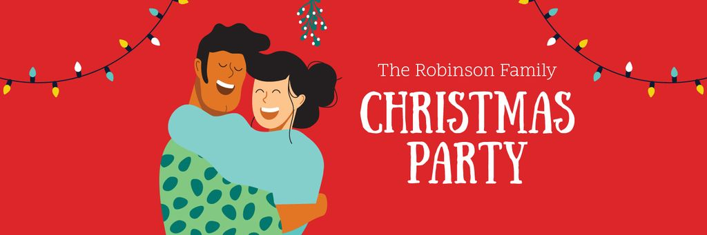 Couble celebrating Christmas — Create a Design