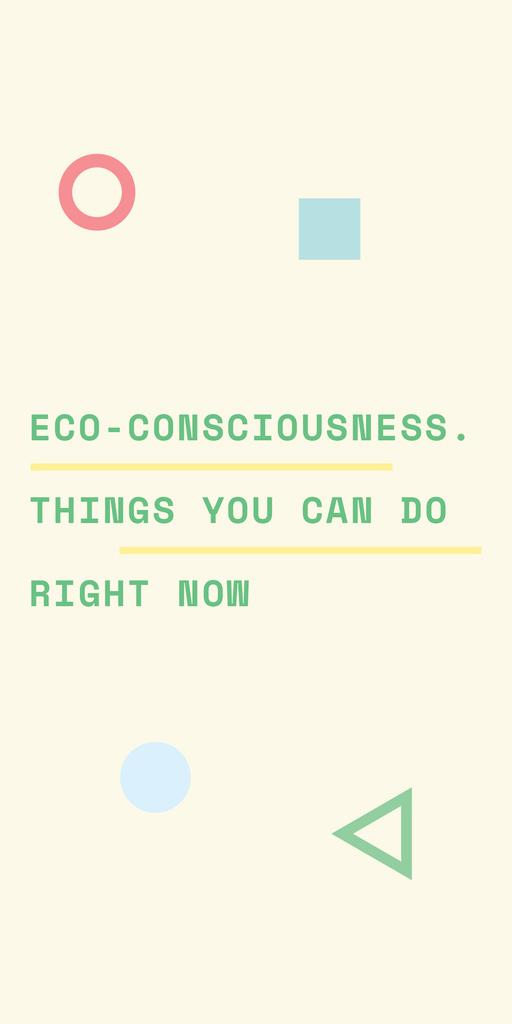 Eco-consciousness concept with simple icons — Créer un visuel