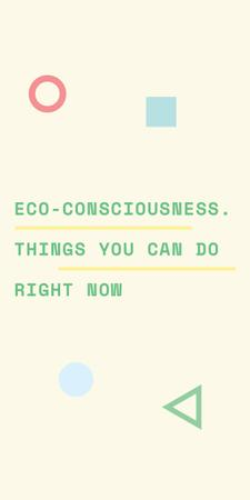 Eco-consciousness concept with simple icons Graphic Tasarım Şablonu