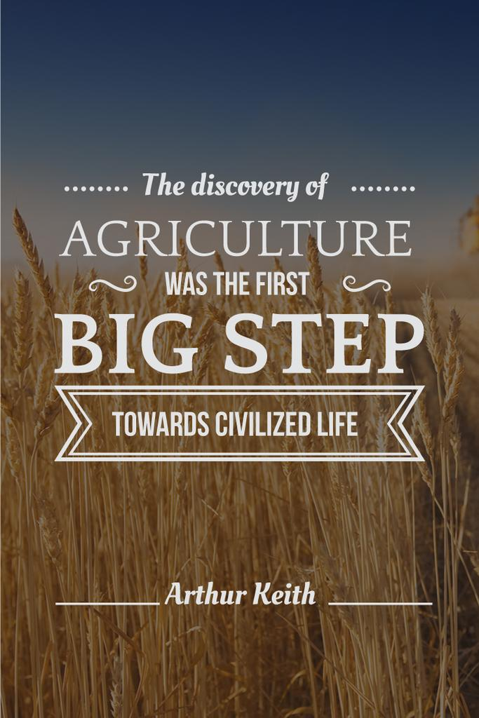 agricultural quote with field of wheat — Создать дизайн