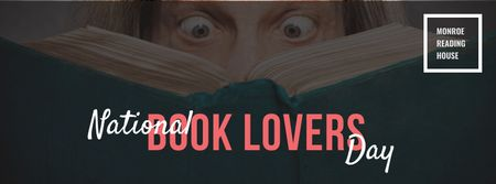 Plantilla de diseño de National Book Lovers day Annoucement Facebook cover