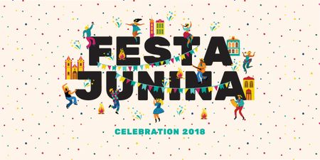Template di design Festa Junina party Image