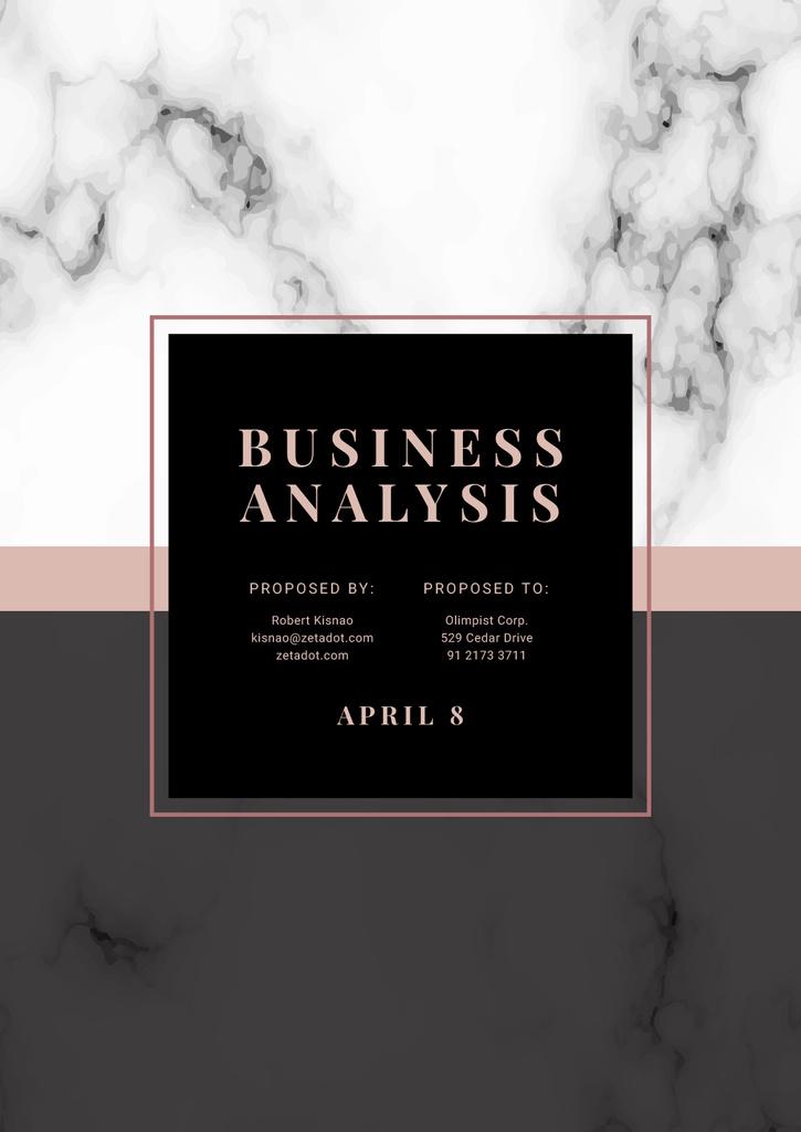 Business Analysis services offer on Marble pattern — ein Design erstellen
