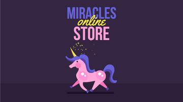 Running Magical Unicorn | Full Hd Video Template