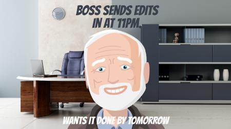 Template di design Upset man in office Full HD video