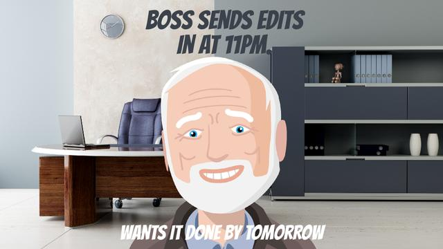 Upset man in office Full HD video Design Template