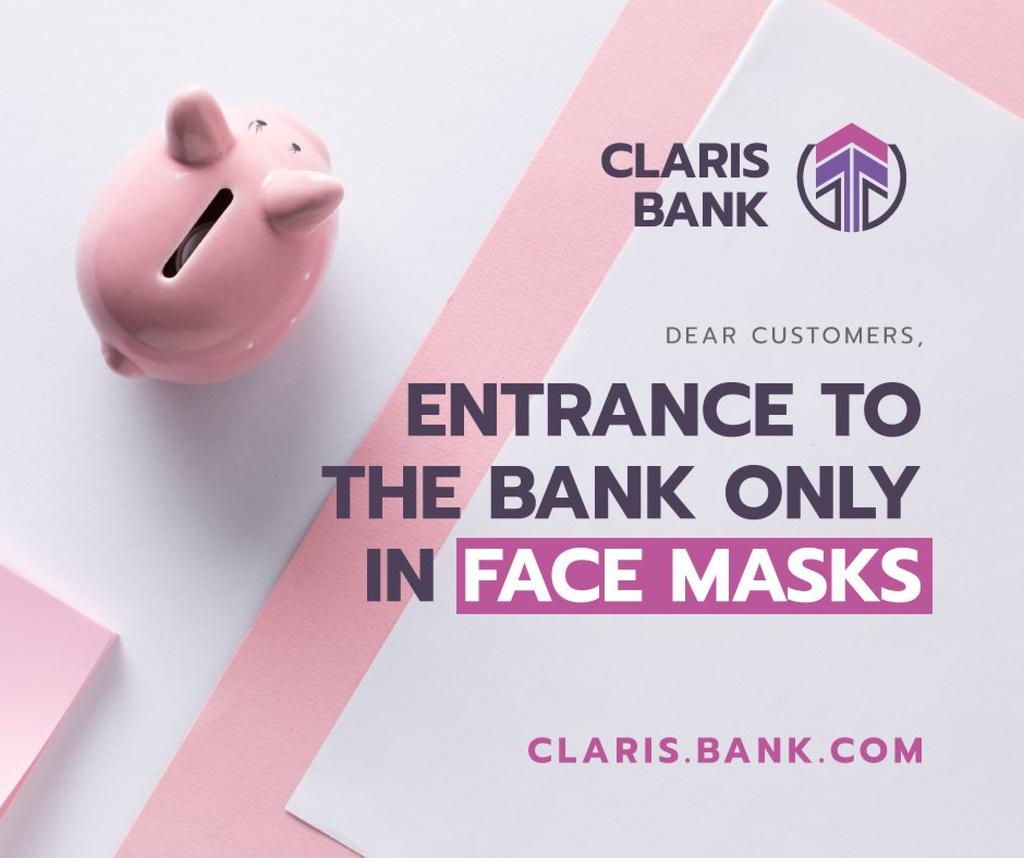Bank Quarantine safety rules with Piggy Bank — ein Design erstellen