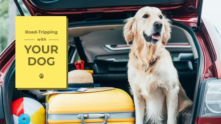 Plantilla de diseño de Road tripping with dog Presentation Wide