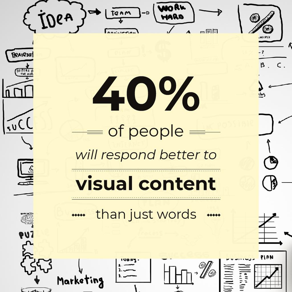 Visual content poster — Создать дизайн
