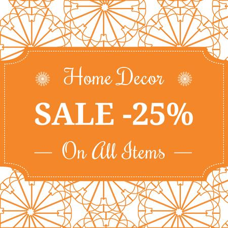 Home decor sale ad with floral texture Instagram AD Modelo de Design