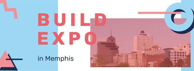 Plantilla de diseño de Memphis city buildings Facebook cover