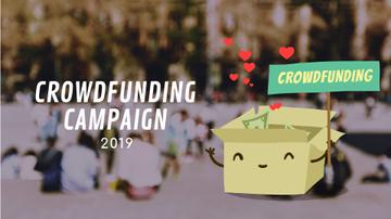 Crowdfunding Campaign Ad Money Filling Box