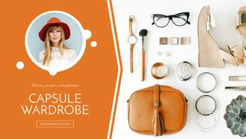 Capsule Wardrobe Flat Lay in Beige | Full Hd Video Template