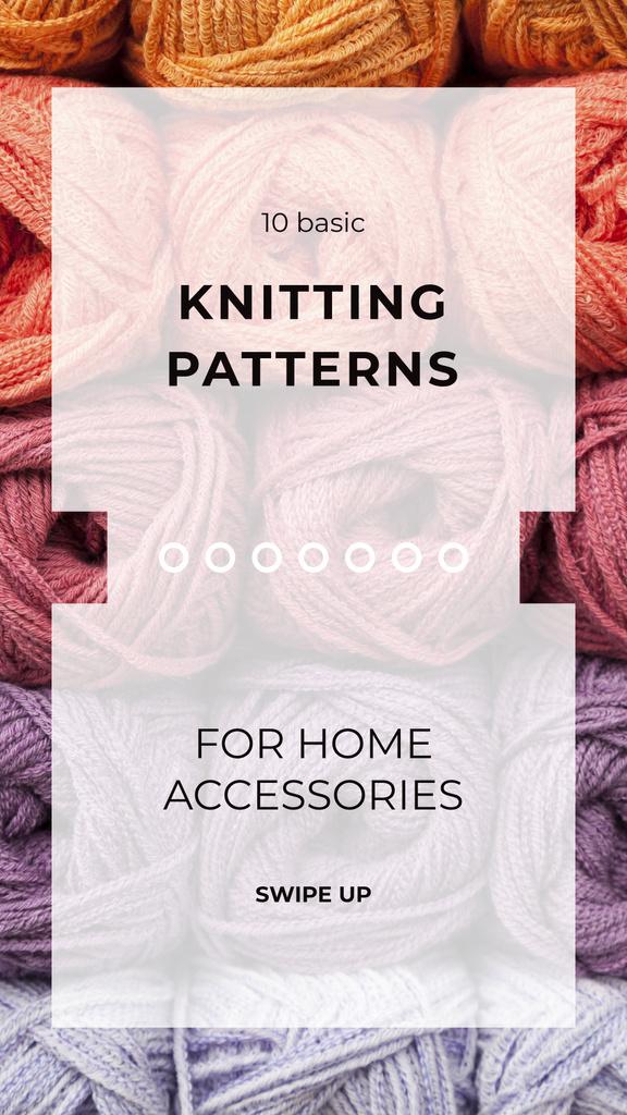 Knitting Wool Yarn Skeins — Crear un diseño