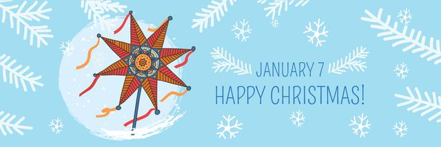 Designvorlage Happy Christmas card für Twitter
