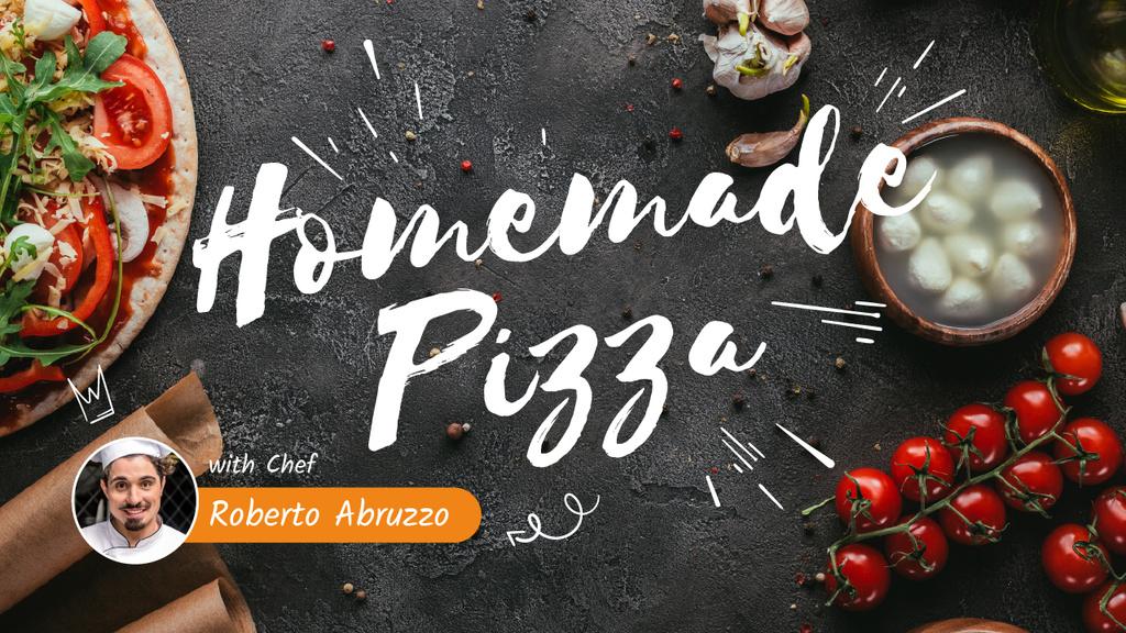 Homemade Pizza Ad with Chef — ein Design erstellen
