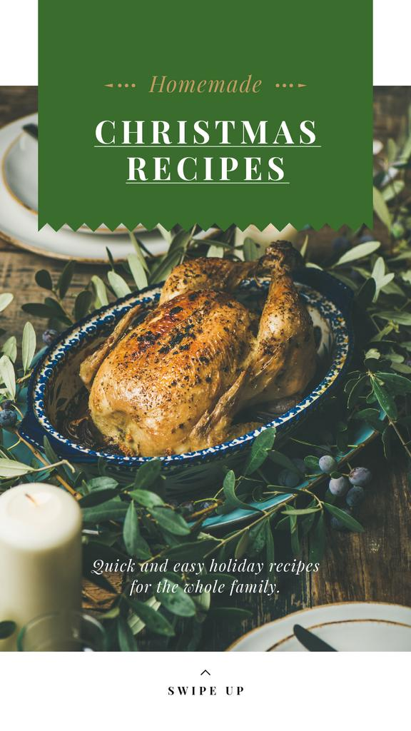 Christmas Recipe Roasted Whole Turkey | Stories Template — Створити дизайн
