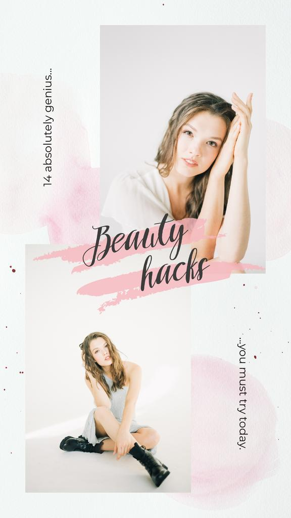 Young girl without makeup — Create a Design