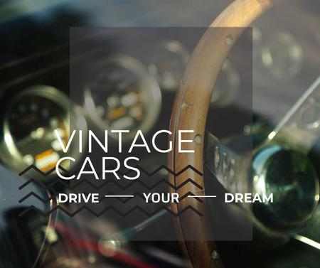 Shiny vintage car interior Facebookデザインテンプレート