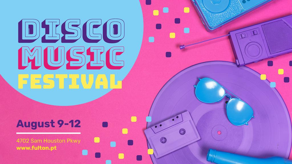 Music Festival Announcement Colorful Party Attributes — Create a Design
