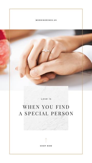 Plantilla de diseño de Valentines Card with Man holding womens hand Instagram Story