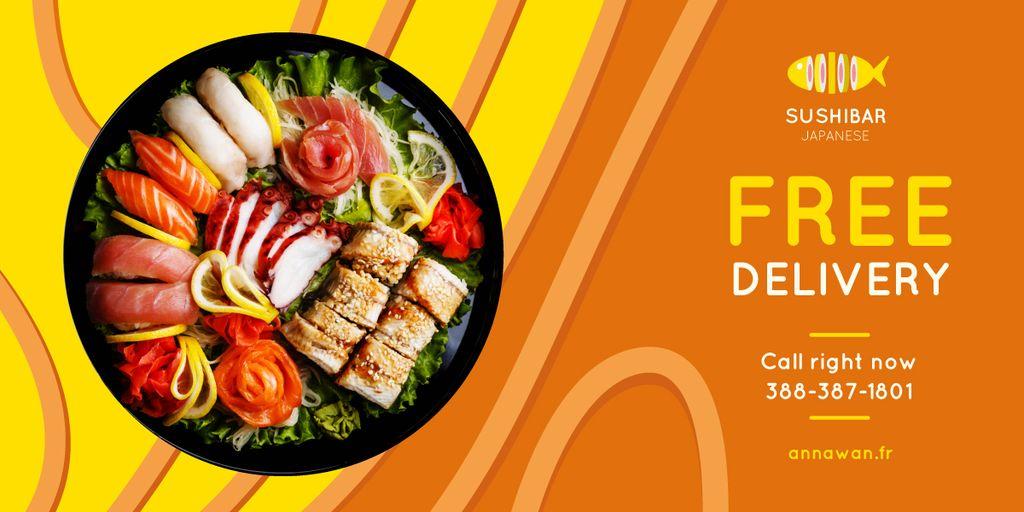 Sushi Menu Offer Fresh Seafood Set — Створити дизайн