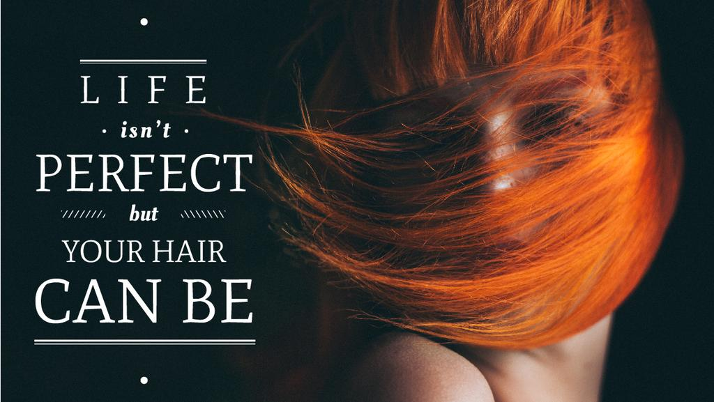 Hair beauty quote poster — Crea un design
