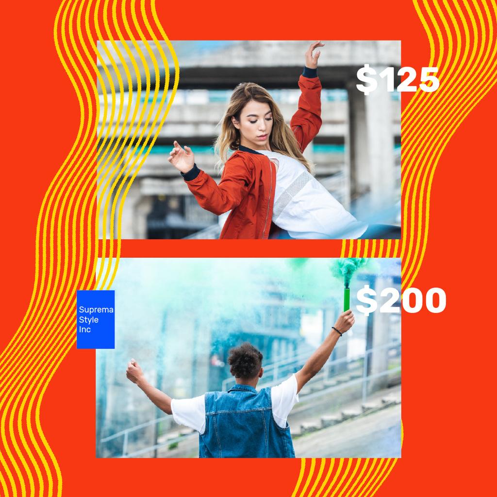 Fashion Ad with Stylish Couple in city - Bir Tasarım Oluşturun