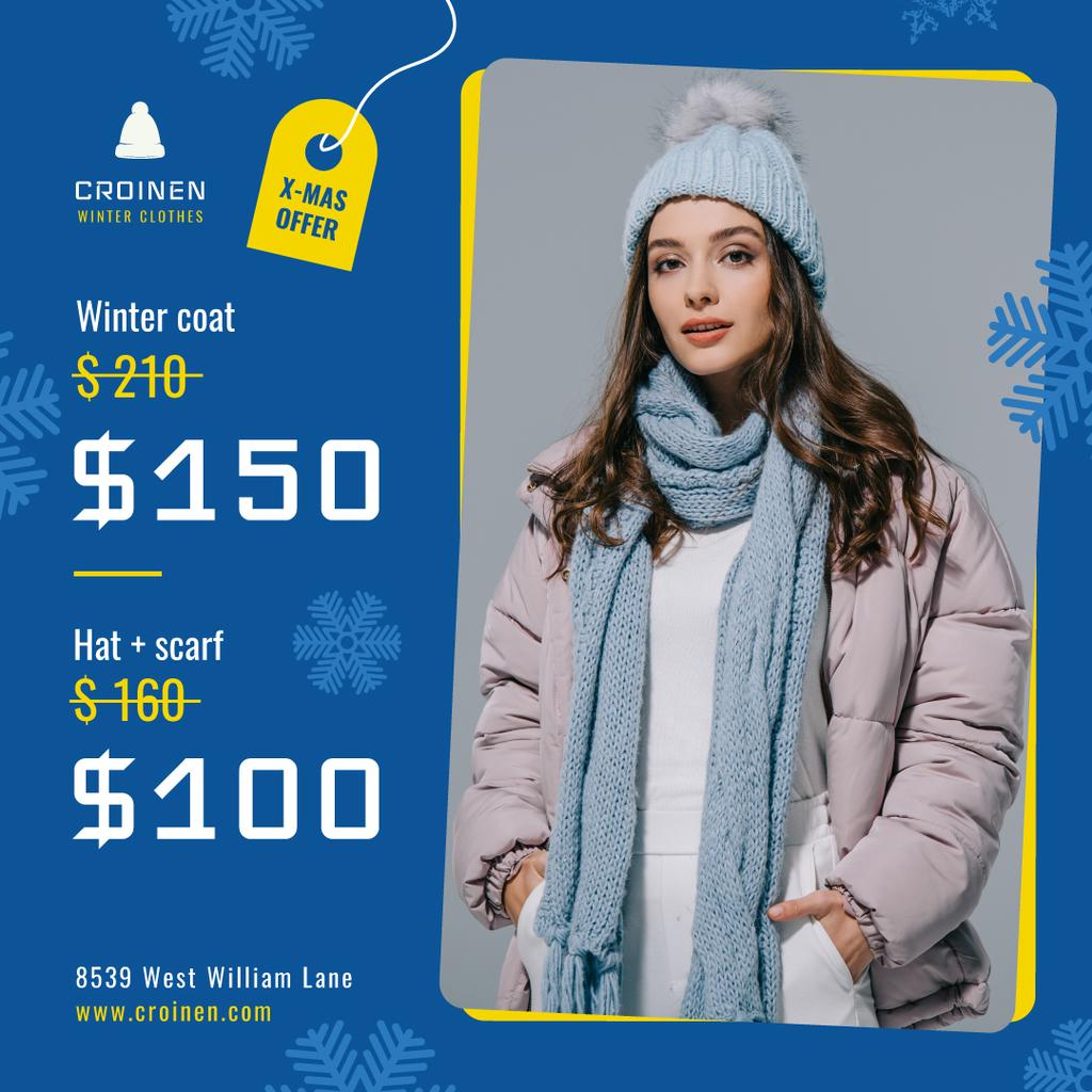 Fashion Sale Woman in Winter Clothes — Створити дизайн