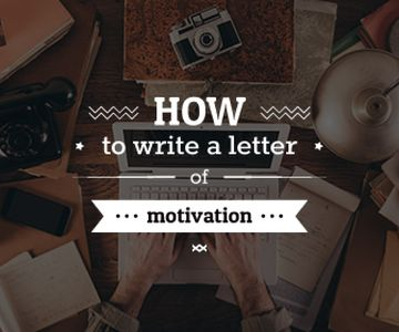 how to write a letter of motivation banner