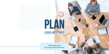 Plan your meetings poster Image Design Template