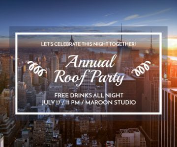 Roof party invitation