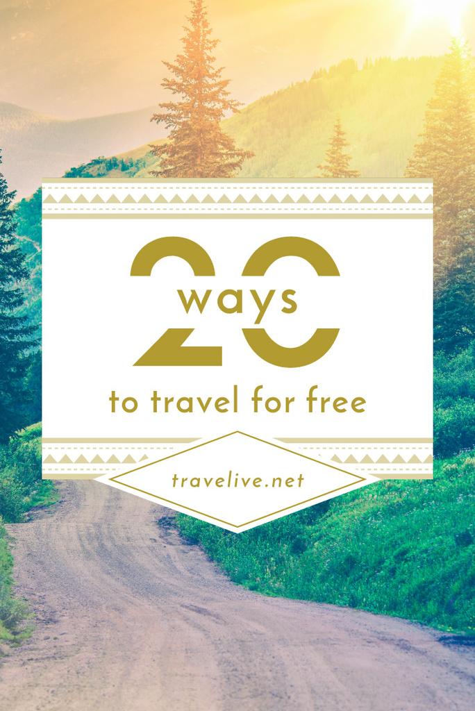 Travel Ideas Scenic Mountain Road | Pinterest Template — Create a Design