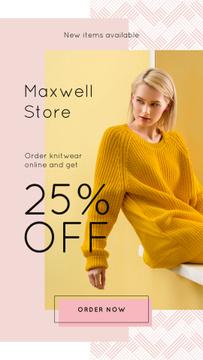 Stylish woman wearing sweater